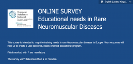 Survey on education needs in rare Neuromuscular Diseases